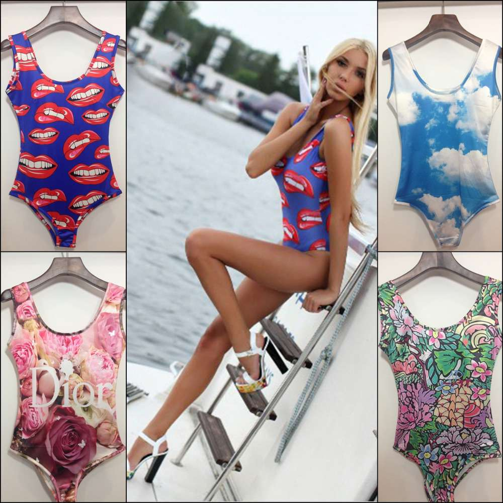 Brand-new-2015-fashion-women-s-sexy-swimming-wear-one-pieces-3D-print-lips-diamond-floral
