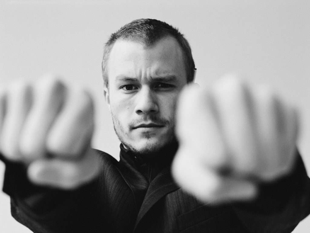 Heath Ledger Clenching Fists October 17, 2002