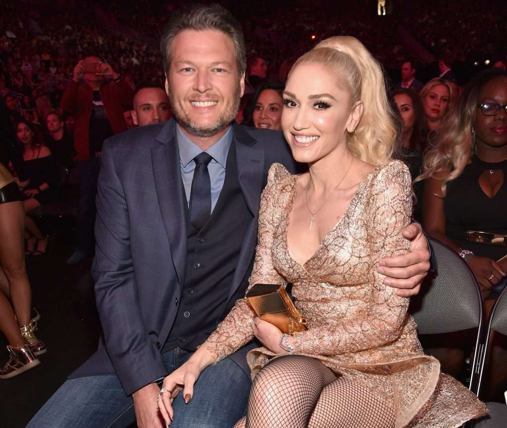 LAS VEGAS, NV - MAY 21: Recording artists Blake Shelton (L) and Gwen Stefani attend the 2017 Billboard Music Awards at T-Mobile Arena on May 21, 2017 in Las Vegas, Nevada. (Photo by Kevin Mazur/BBMA2017/Getty Images for dcp)